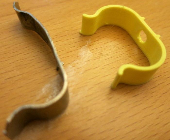 Replacing a bent cabinet clip