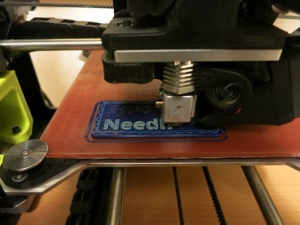 Starting to print the second color