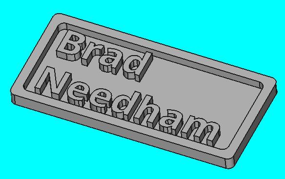 Making a 3D Printed Name Badge | Blue Paper Technology LLC