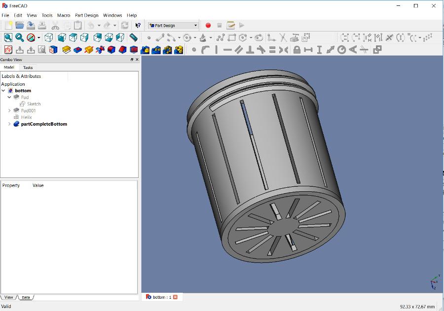 FreeCAD screen shot