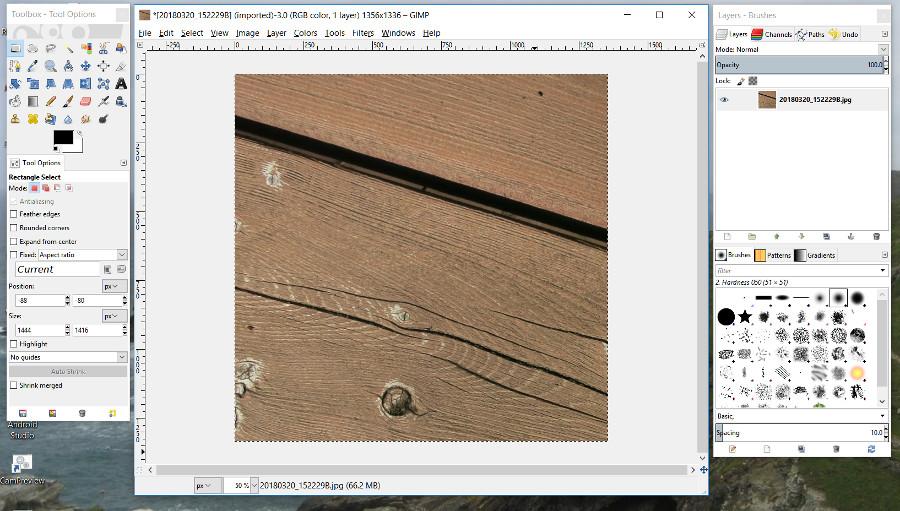 Gimp Screen Shot