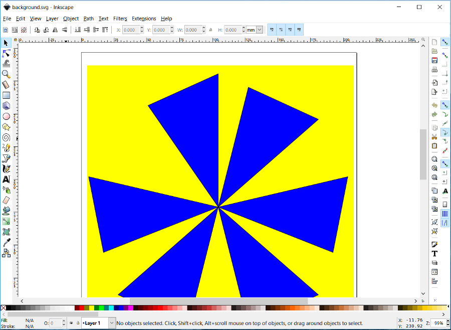 Inkscape screen shot