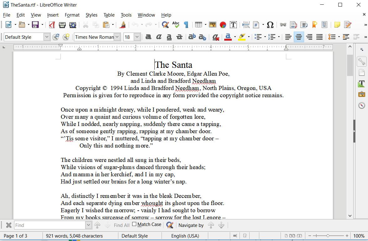 LibreOffice Writer screen shot