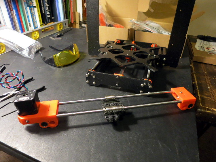 Assembling the Prusa I3 MK3 X axis