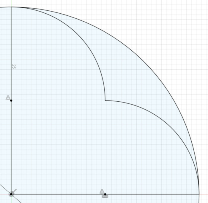 The result: arcs that end at their intersection