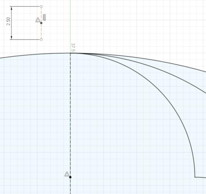 a 2.5 mm custom ruler