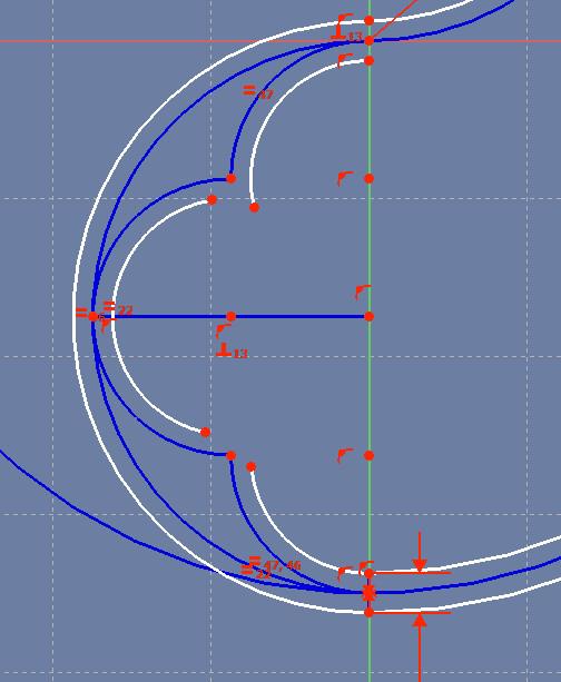 The three small arcs so far