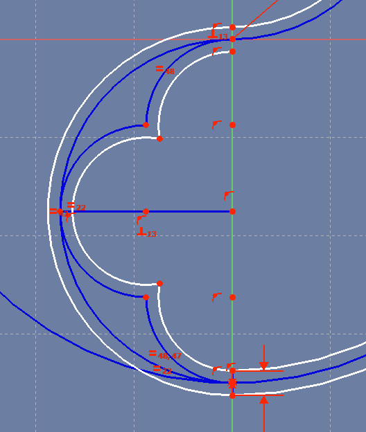 The inner arcs are joined