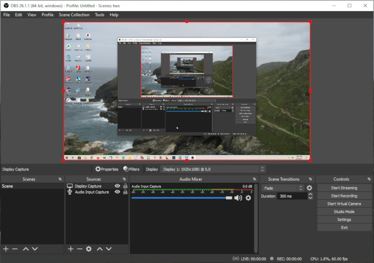 The open source screen recorder, OBS Studio