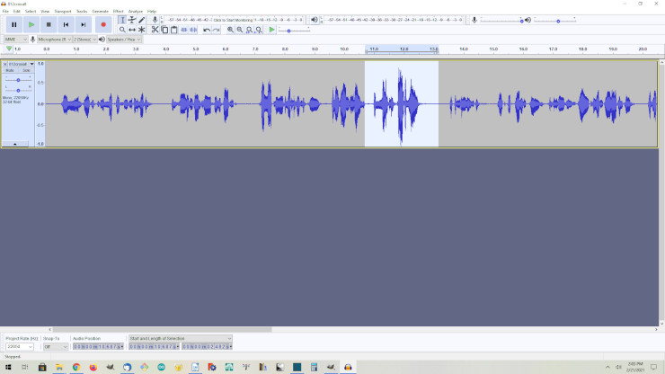 The open source audio editor, Audacity