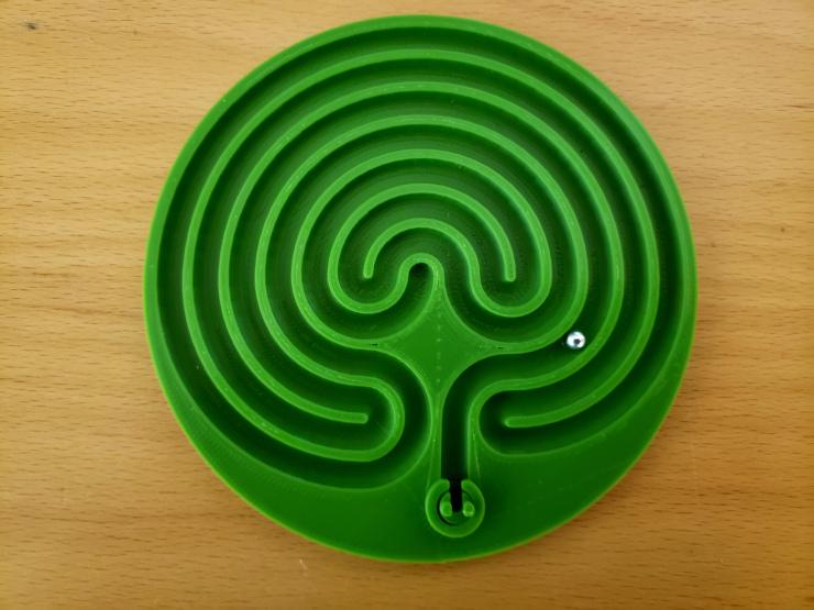 3D Printed Cretan Labyrinth